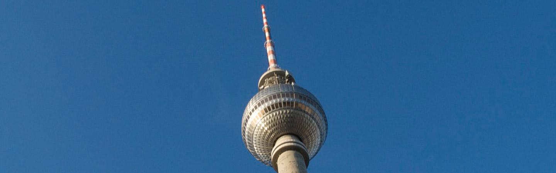 The TV tower in Berlin.